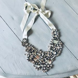 Jewelry - J.Crew Crystal embellished Satin Bridal Necklace